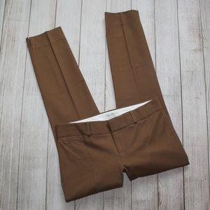 BANANA REPUBLIC Size 0 Pants Ankle Sloan Brown